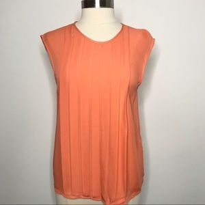 Joie Averlia Silk Top Blouse Nectar Orange Medium